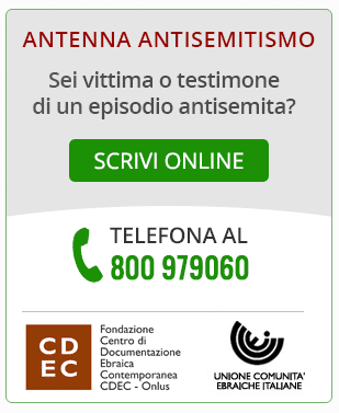 Communica episodi di antisemitismo